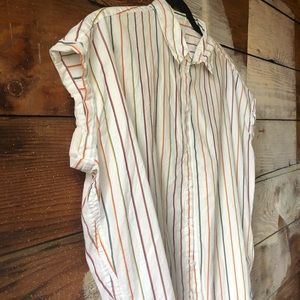 Madewell Tops - Madewell Striped Size Small Cotton Button Blouse